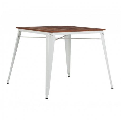 Mesa Comedor Tolix Blanca/madera
