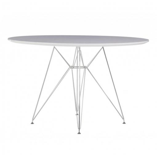Mesa Comedor Redonda Tower Metal/blanca 120 | Las mejores ofertas de ...