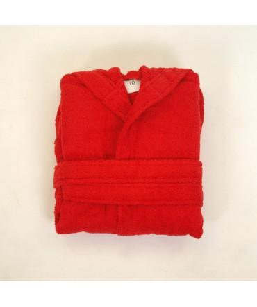 Albornoz Niño Clasico Rojo - Medidas Albornoces - 6
