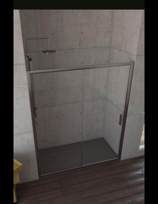 Mampara de ducha madrid ancho color espesor litros medida 135 140 cm modelo - Mampara ducha madrid ...