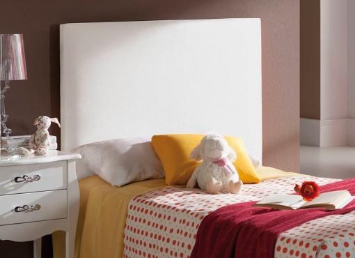 Cabecero tapizado en polipiel al 50 descuento medida 90 x 60 cms m s margen color blanco - Cabecero polipiel carrefour ...