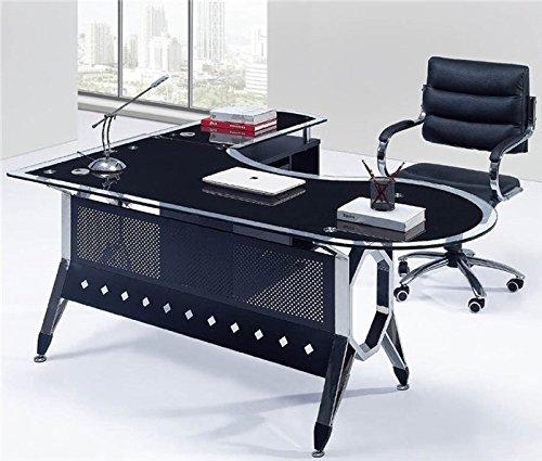 Mesa escritorio cristal 180x85 cm las mejores ofertas de for Mesa escritorio carrefour