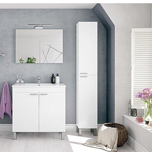 Conjunto mueble ba o completo italia lavabo espejo - Muebles bano carrefour ...