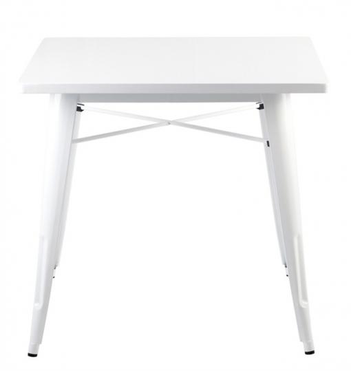 Mesa Cocina/comedor Acero Blanca 80x80x76 Cm | Las mejores ofertas ...