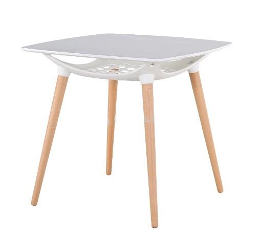 Mesa cocina blanca y madera best menta mesa de cocina de estilo nordico con cajn with mesa - Mesa nevera carrefour ...