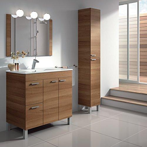 Conjunto Mueble De Ba O Lavabo Espejo Columna Las