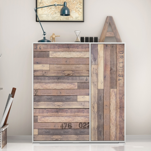 Zapatero armario blanco frontal madera de 3 baldas y 1 - Armario madera blanco ...