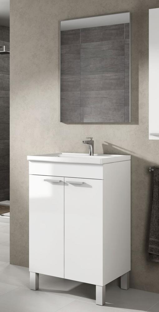 Mueble lavabo de ba o aseo peque o con espejo incluido y for Lavabos pequenos con mueble