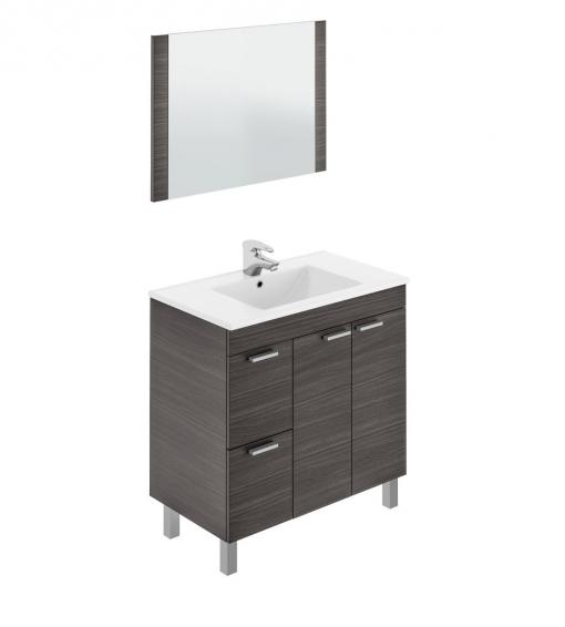 Mueble para ba o o aseo con espejo 2 puertas y 2 cajones - Ofertas muebles de bano ...