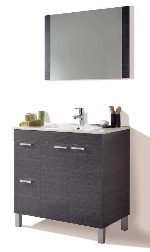 Mueble Para Baño O Aseo Con Espejo 2 Puertas Y 2 Cajones Con ...