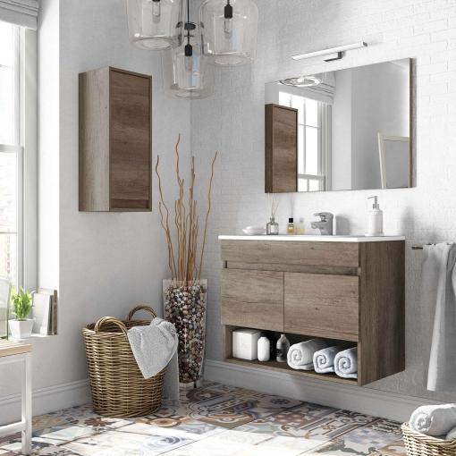 Pack mobiliario ba o con mueble espejo lavabo de - Ofertas muebles de bano ...