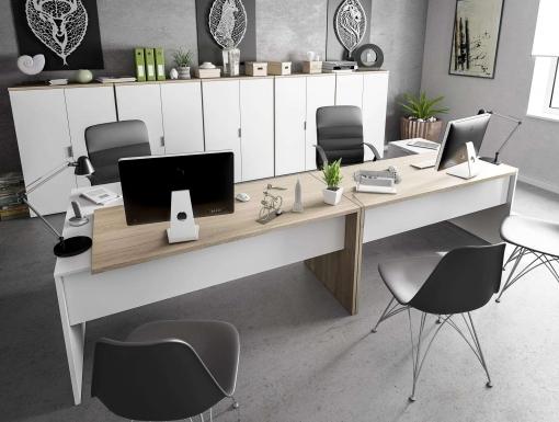 Pack muebles despacho completo moderno 2 mesas escritorio - Despachos modernos ...