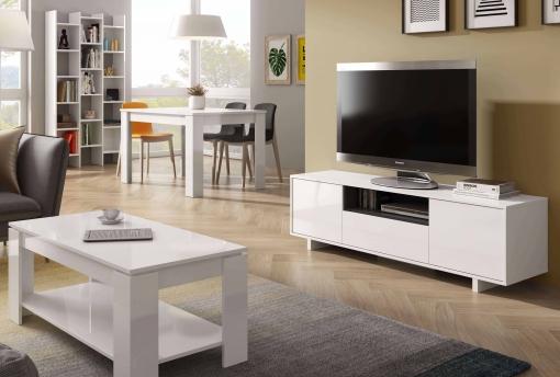 Conjunto Muebles Comedor Mobiliario Salón Completo Color Blanco ...