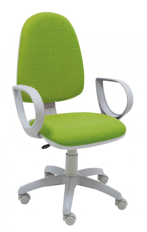 Silla Giratoria Oficina Torino Gris Color Verde Claro Ergonómica Con Brazos  Y Asiento Ajustable Con Contacto Permanente