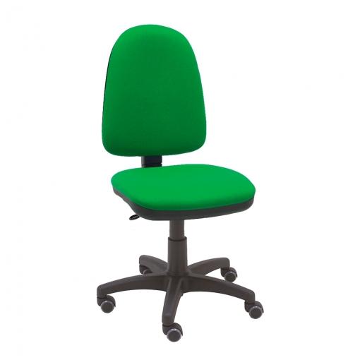 Silla Giratoria Oficina Torino Color Verde Ergonómica Con Asiento Ajustable  Con Ruedas De Parquet Y Contacto Permanente
