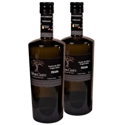 Aceite Oliva Virgen Extra. Pack 2 Botellas 500 Ml. Olivar De Castro
