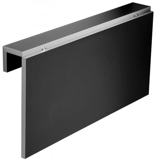 Mesa Cocina Negra Vera Apertura Abatible Pared Suspendida Diseño Moderno  80x10-50