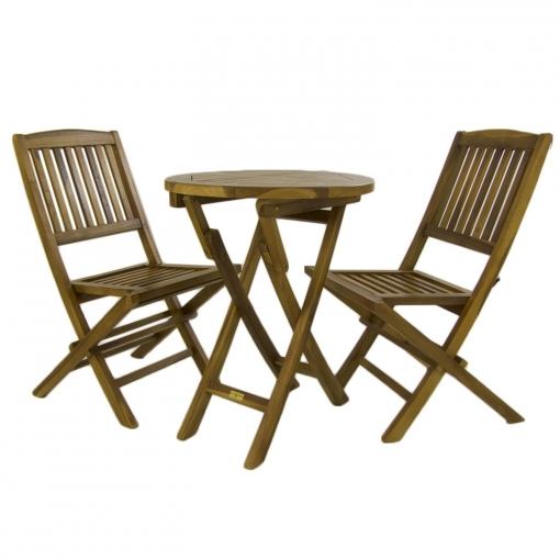 conjunto mesa y sillas plegables jardin