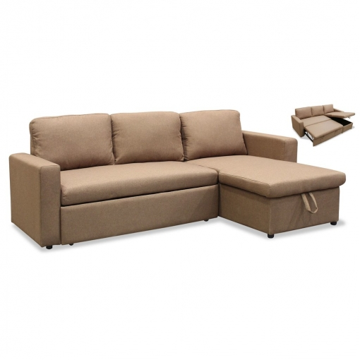Sofa Tres Plazas.Sofa Cama Con Chaiselongue Tres Plazas Color Beige Sofas Chaise Longue Ref 107