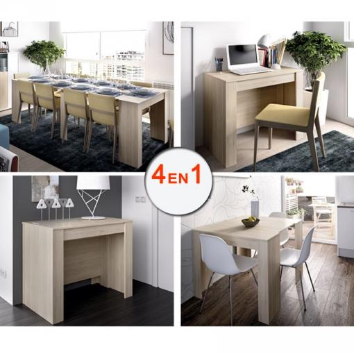 Mesa Cocina Extensible De Comedor O Mesa Cocina, De 54 Cm A Los 239 Cm De  Largo En 5 Posiciones