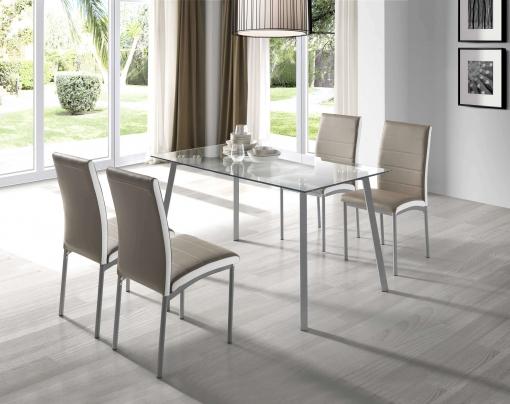 mesas y sillas cocina cristal