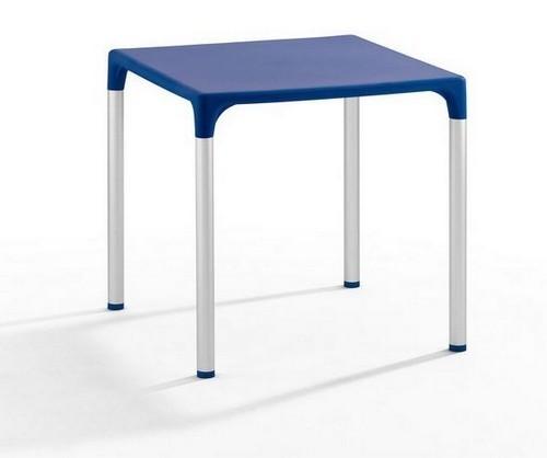 Pack De 20 Mesas Jardin Terraza Lassy Aluminio Polipropileno Azul 74x74 Cms