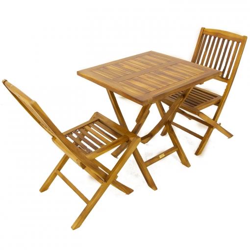 silla y mesa de madera plegable