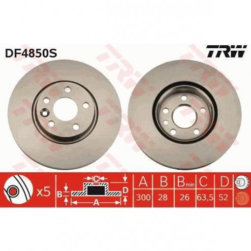 Disco De Freno Df4850s Unitai