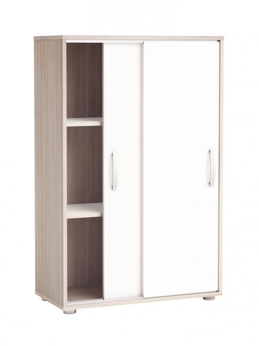 mueble armario auxiliar puertas correderas color blanco y