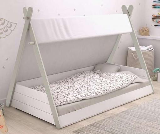Cama Infantil Diseño Tipi Tienda India Unisex Cama Niños De Cuento 90x200 Cm Para Dormitorio Infantil Mobiliario Infantil