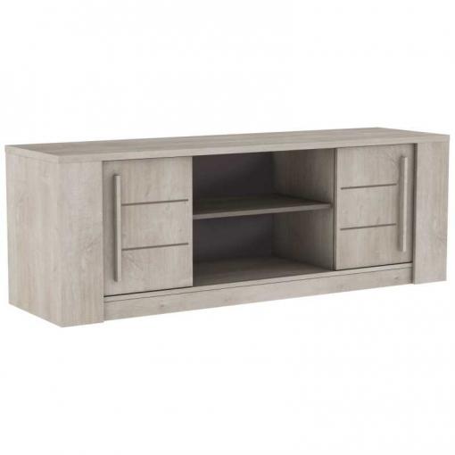 Mueble Mesa Tv Salón Comedor Diseño Puertas Correderas Espacio