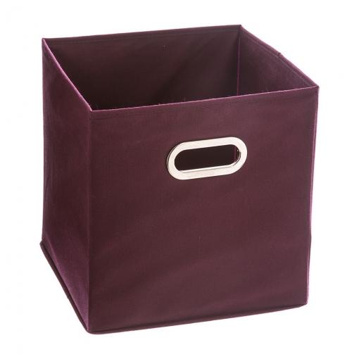Caja Organizadora Color Morado Para Estanteria 31x31x31cm   Las ...