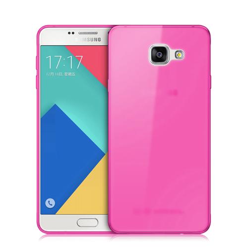 f801b036f3e Donkeyphone® - Funda Carcasa De Silicona Rosa Para Samsung Galaxy A7 2016  Gel Tpu Lisa