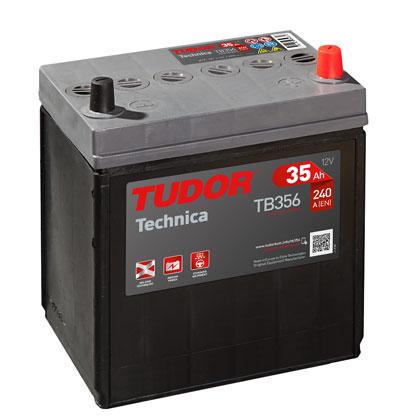 Batería Tudor Tb356 - 35ah 12v 240a. 187x127x220