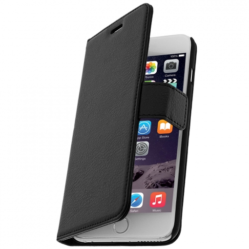 89b994f7f54 Funda Libro Billetera Para Iphone 6 Plus/6s Plus - Negra | Las ...
