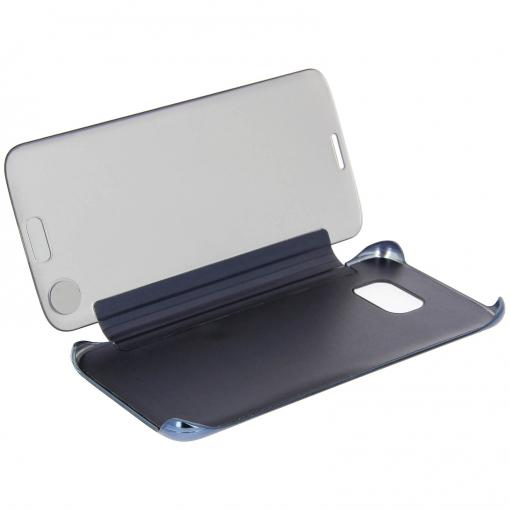 086e38daf09 Funda Libro Efecto Espejo Azul Oscuro Samsung Galaxy S7 Edge Tapa  Translúcida