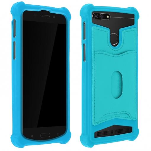 c15c39f1865 Carcasa Universal Para Smartphones De 5,3 A 5,5 Billetera Extraíble -  Turquesa