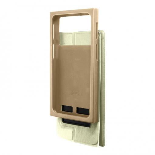 4ea58c7d5b0 Funda Con Ventana Universal Para Smartphones 5,4'' F. Soporte - Oro ...