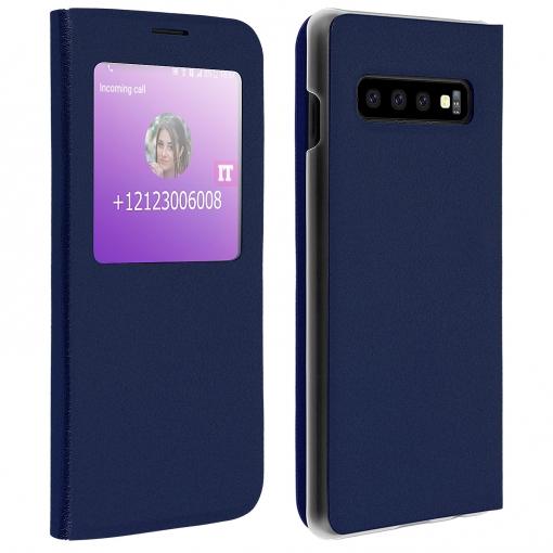 37051b21cca Funda Libro Samsung Galaxy S10 Plus Con Ventana Carcasa Rígida - Azul  Oscuro con Ofertas en Carrefour   Las mejores ofertas de Carrefour