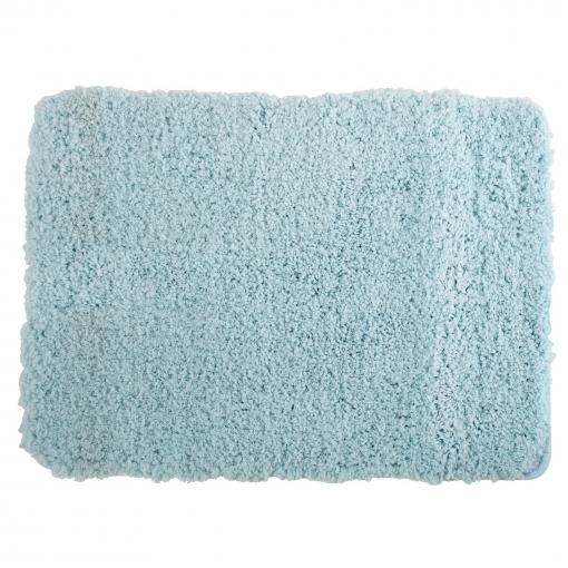 Alfombra De Microfibra Con Suela De Latex Azul Celeste