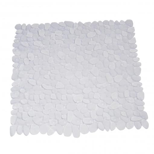 Alfombra De Baño Piedras Transparente 54x54