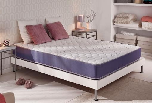 Naturalex - Colchón Transpirable Geltec 140x190 Cm Espuma De Soporte Blue Latex® - Visco Elástica Gel Fresh® - 18 Cm - Firmeza Suave