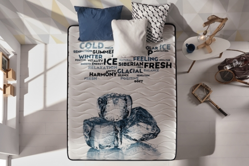 Naturalex Gama Zen – Colchón Ergonómico Memogel 135x190  Cm Espuma De Memoria Con Gel Gel Fresh® - Espuma Hr Blue Latex® Y Aquapur® - 7 Zonas – 23 Cm