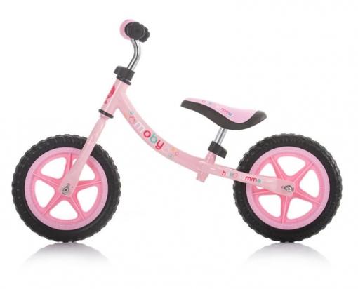 Bicicleta Infantil Sin Pedales Moby Rosa