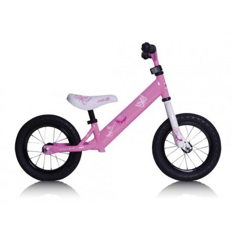 """Bici Aprendizaje Rebel Kidz 12,5"""" Air Acero, Mariposa Rosa"""