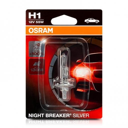 Lámpara Osram ® 64150nbs-01b H1 1 Night B Silver 55w12v+100