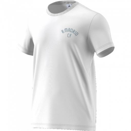 Camiseta Adidas Real Madrid Básica Blanca Adulto  636813e6ff9