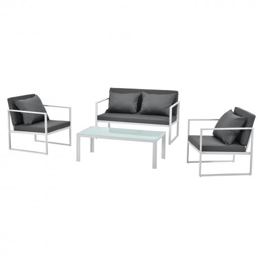 casa.pro]® Set De Muebles De Jardín 2 X Silla De Jardín Sofá Mesa De ...