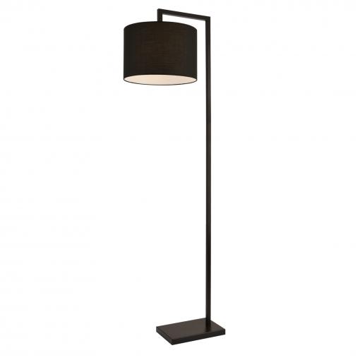 [lux.pro]® Lámpara De Pie Düsseldorf - Moderna - Diseño - Altura 161 Cm - Iluminación Interior - Luz Efectiva - Negro - 1 X E27