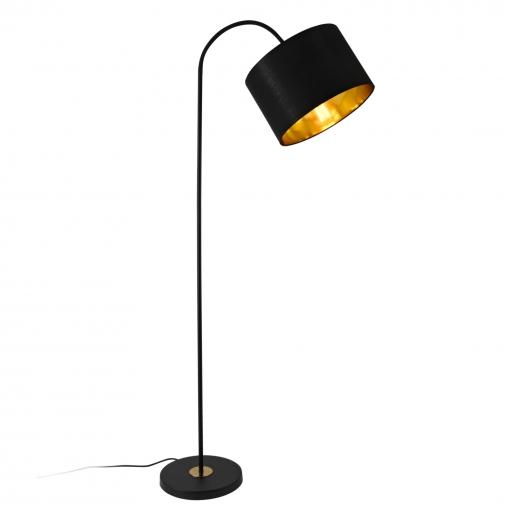 [lux.pro]® Lámpara De Pie Toledo - Moderna - Diseño - Altura 173 Cm - Iluminación Interior - Luz Efectiva - Negro - 1 X E27
